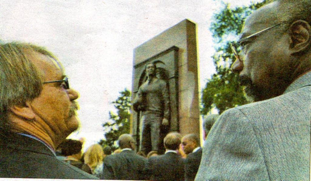Unveiling of Timothy Cole Statue