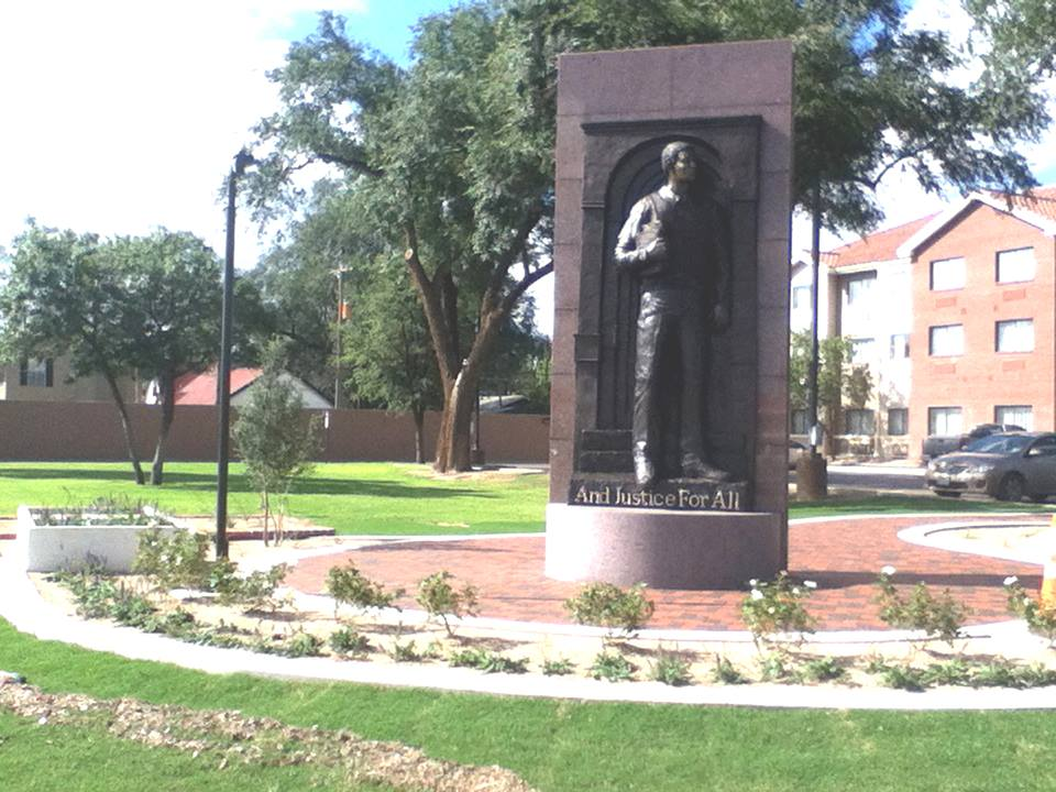 Time Cole Statue at Texas Tech University