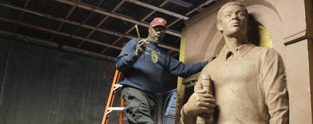 Eddie working on Tim Cole Memorial Project