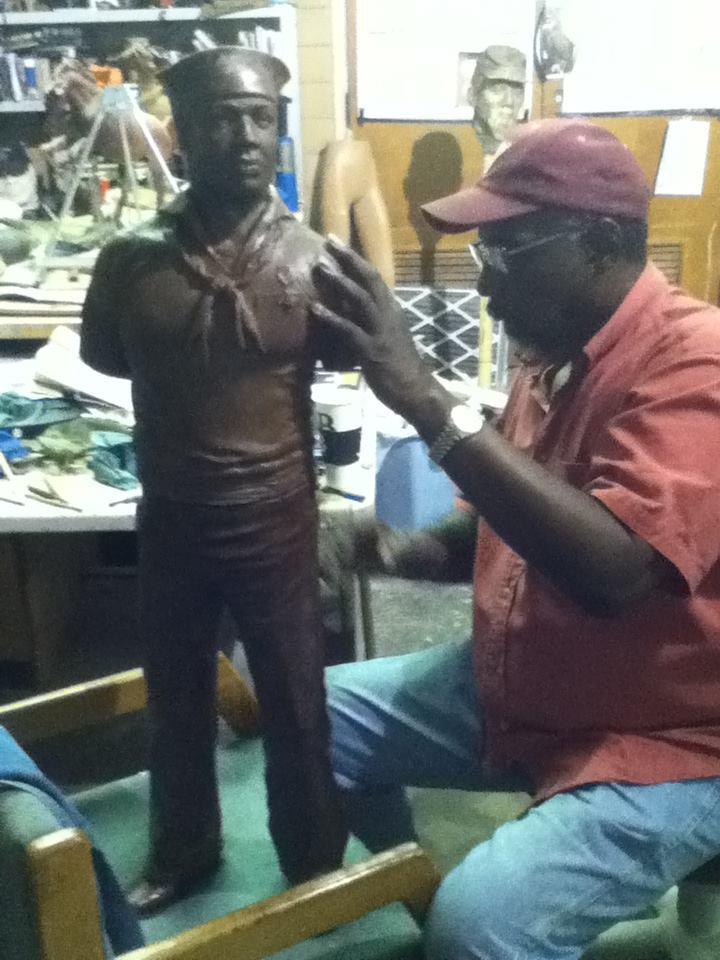 Eddie working on Doris Miller Project